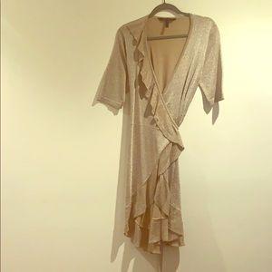 Wrap around BCBG MaxAzria dress.